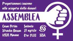 Assemblea generale: prepariamoci allo sciopero delle donne! @ Casa Porta