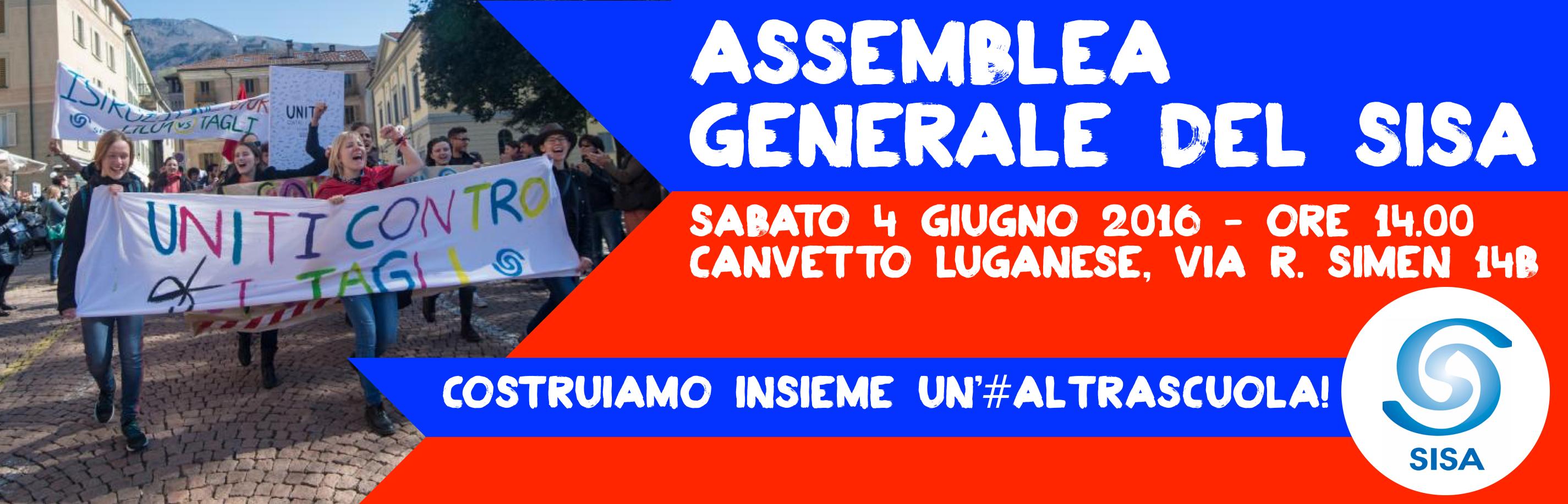 """Assemblea generale del SISA: """"Costruiamo insieme un'#altrascuola!"""""""