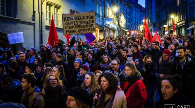 """Le lotte studentesche in Svizzera si uniscono nell'alleanza """"Azione_Istruzione""""!"""